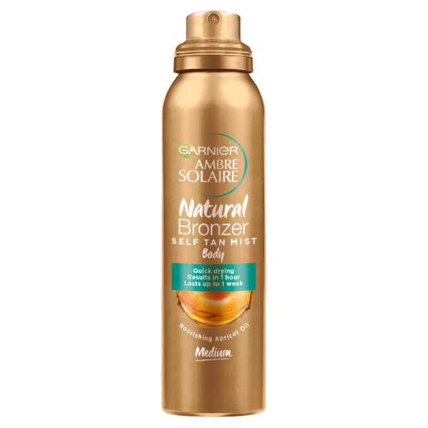 Garnier Ambre Solaire No Streaks Bronzer Self Tan Medium Body Mist