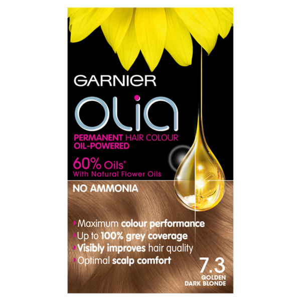 Garnier Olia 7.3 Golden Dark Blonde Hair Dye