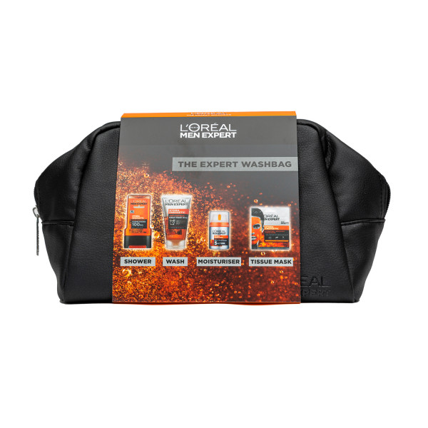 LOreal Men Expert Hydra Energetic Washbag 4-Piece Gift Set for Him