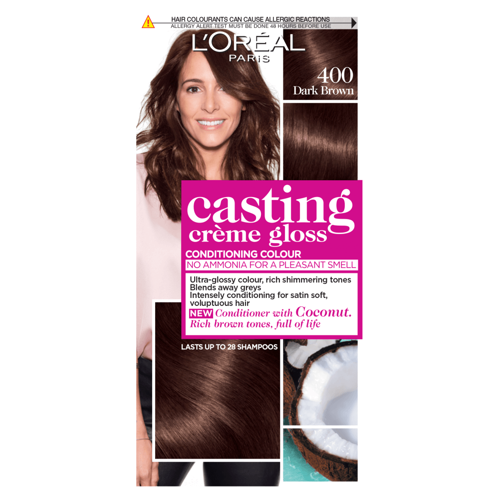 L'Oreal Paris Casting Creme Gloss 400 Dark Brown Hair Dye