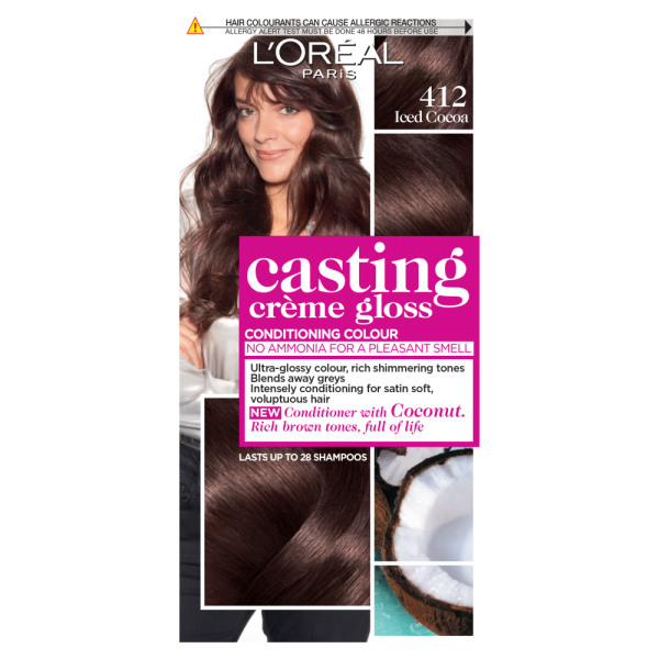LOreal Paris Casting Creme Gloss 412 Iced Cocoa Hair Dye