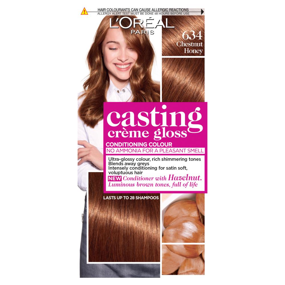 L'Oreal Paris Casting Creme Gloss 634 Chestnut Honey Hair Dye