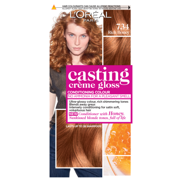 LOreal Paris Casting Creme Gloss 734 Rich Honey Hair Dye