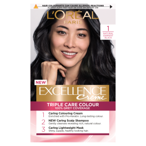 LOreal Paris Excellence Creme 1 Natural Darkest Black Hair Dye