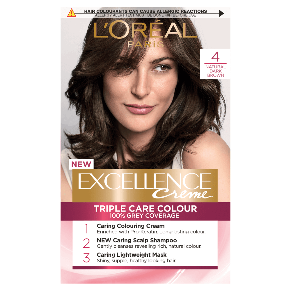 L'Oreal Paris Excellence Creme 4 Natural Dark Brown Hair Dye