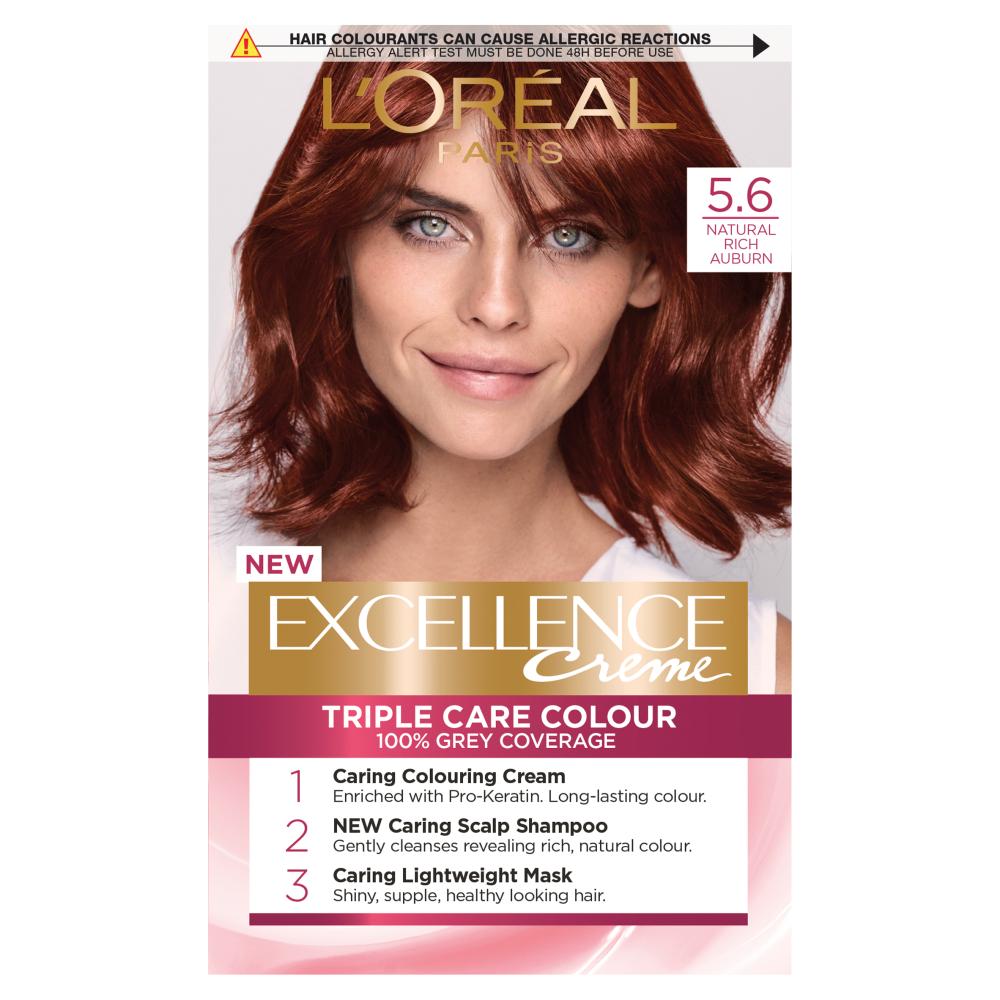 L'Oreal Paris Excellence Creme 5.6 Natural Rich Auburn Hair Dye