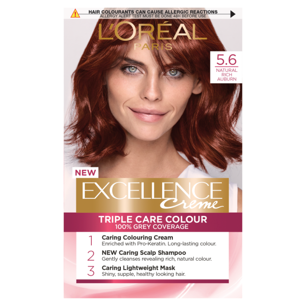 LOreal Paris Excellence Creme 5.6 Natural Rich Auburn Hair Dye