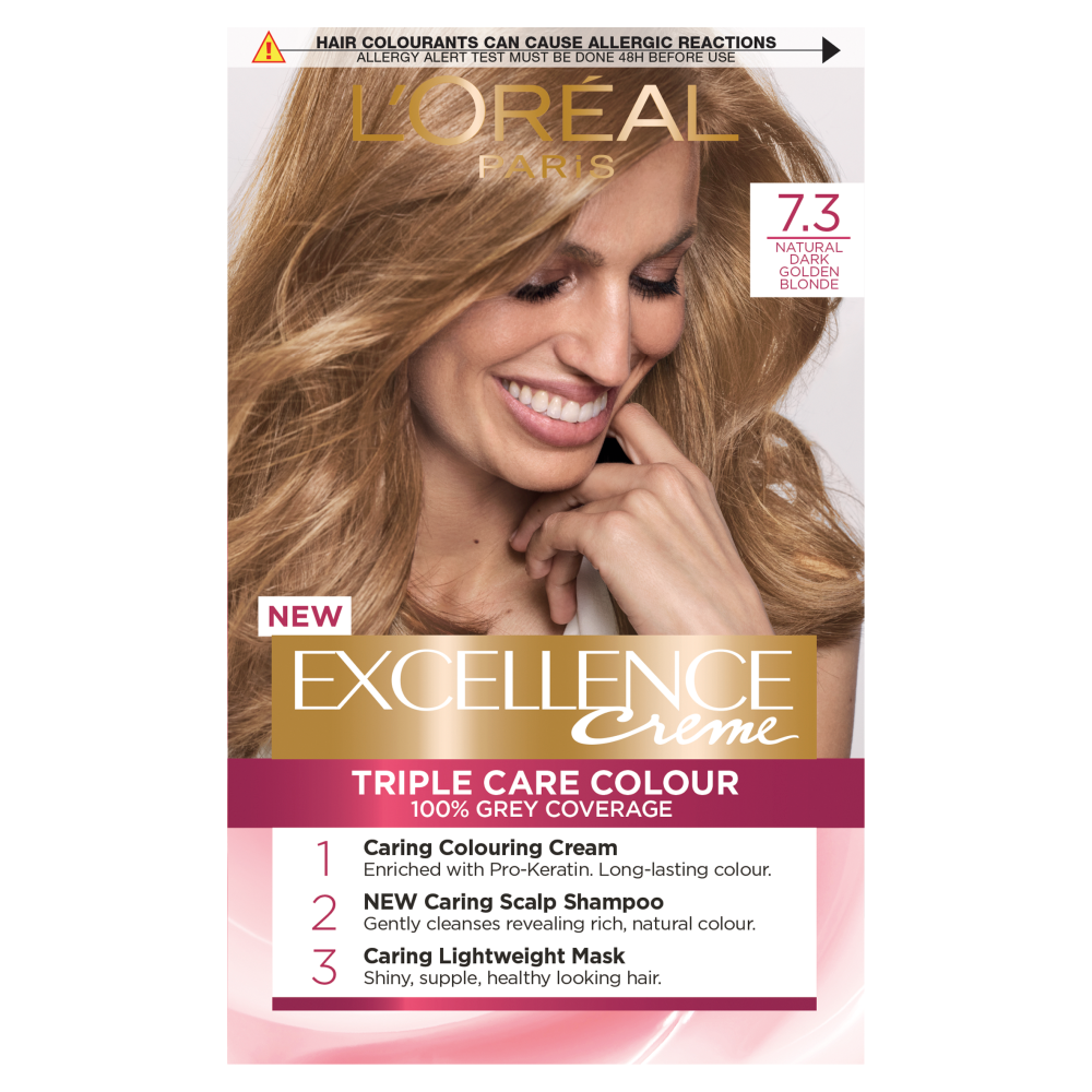 L'Oreal Paris Excellence Creme 7.3 Natural Dark Golden Blonde Hair Dye