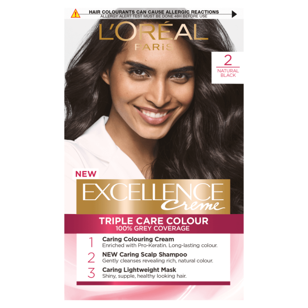 LOreal Paris Excellence Creme 2 Natural Black Hair Dye