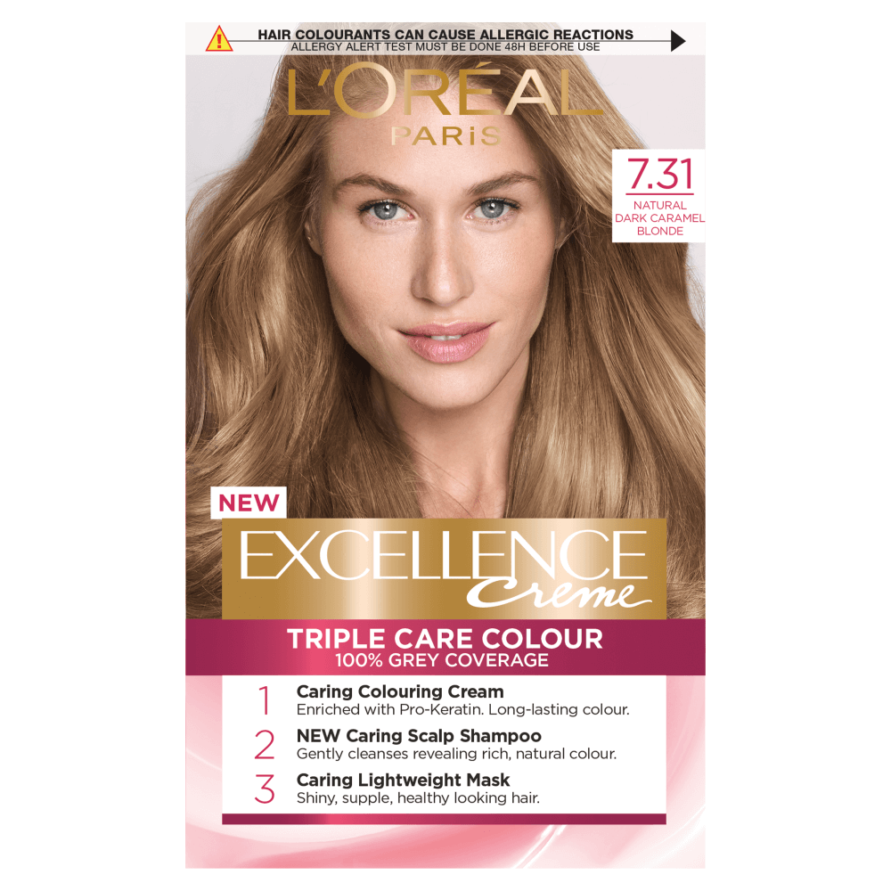 L'Oreal Paris Excellence Creme 7.31 Dark Caramel Blonde Dye