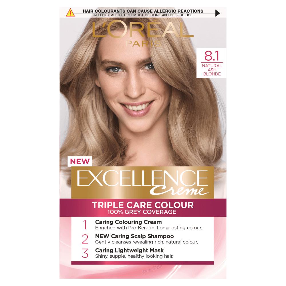 L'Oreal Paris Excellence Creme 8.1 Natural Ash Blonde Hair Dye