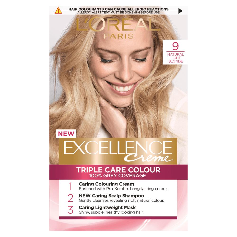 L'Oreal Paris Excellence Creme 9 Natural Light Blonde Hair Dye