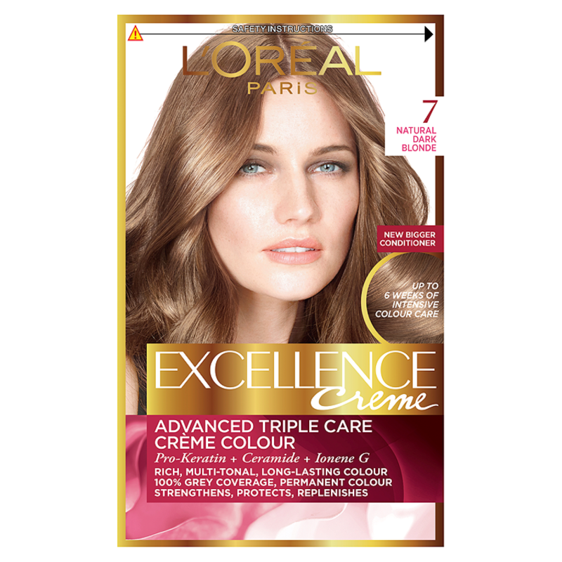 Buy Loreal Excellence Creme 7 Dark Blonde Hair Dye Chemist Direct