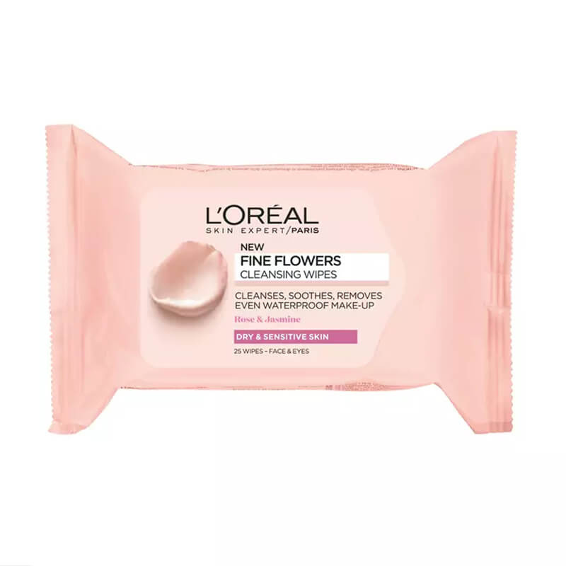 L'Oreal Paris Fine Flowers Cleansing Wipes for Dry and Sensitive Skin