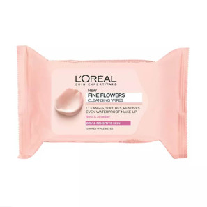 LOreal Paris Fine Flowers Cleansing Wipes for Dry and Sensitive Skin