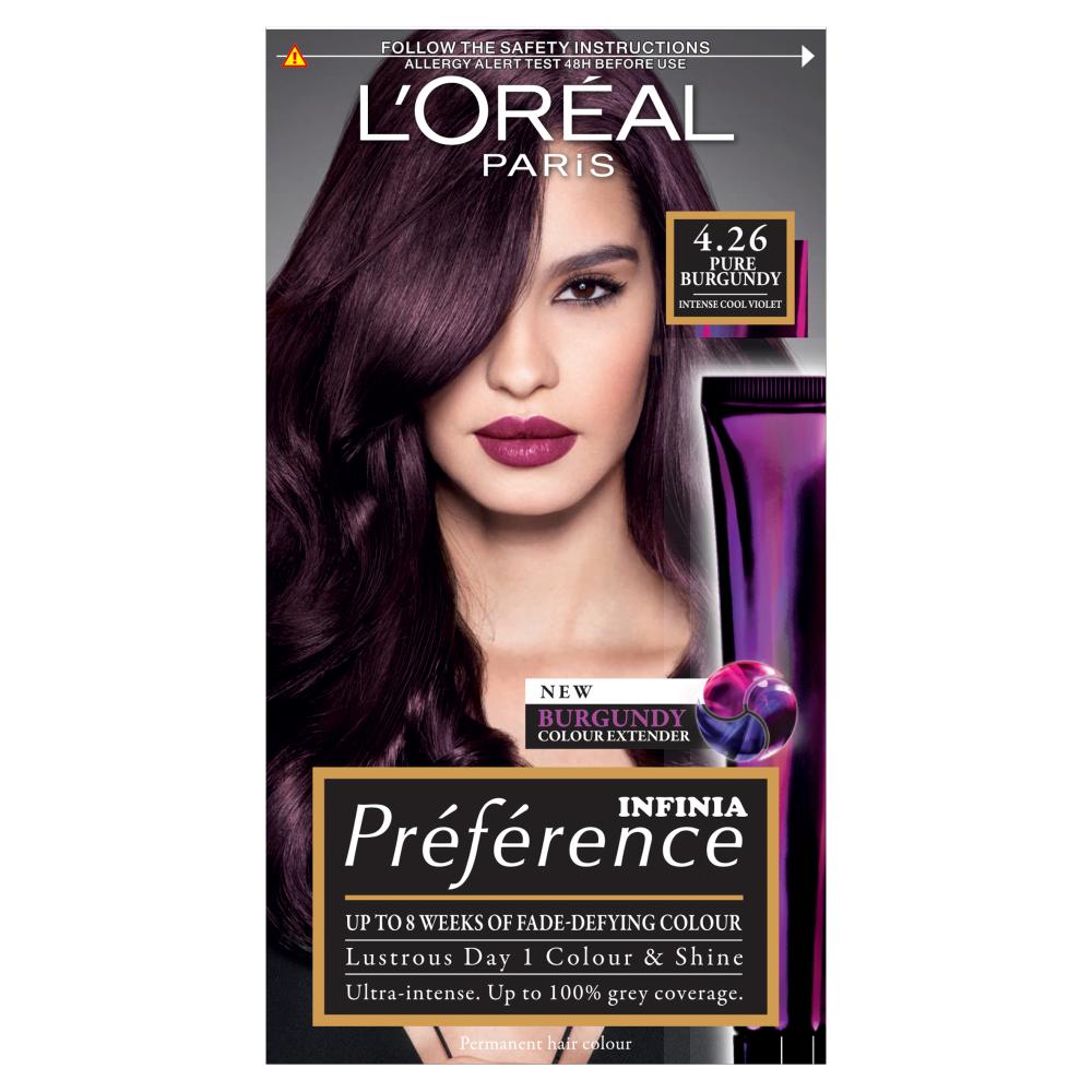 L'Oreal Paris Preference Infinia 4.26 Pure Burgundy Hair Dye