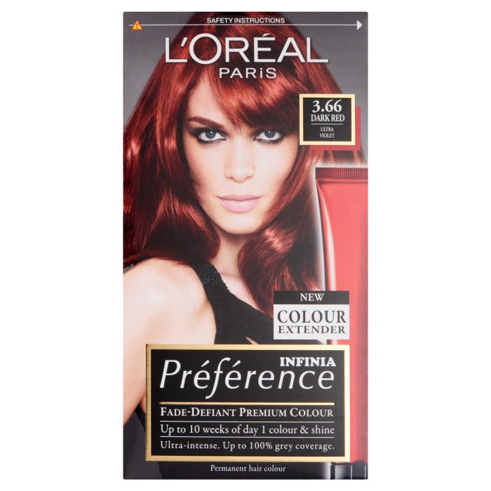 Buy Loreal Preference Infinia 366 Dark Red Hair Dye 1 Kit