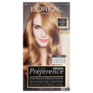 LOreal Paris Preference Infinia 7.3 Florida Honey Blonde Hair Dye