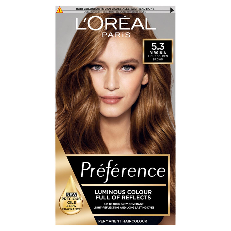 L'Oreal Preference 5.3 Virginia Light Golden Brown Permanent Hair Dye