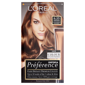 LOreal Paris Preference Infinia 6.35 Havana Golden Mahogany Light Brown Hair Dye