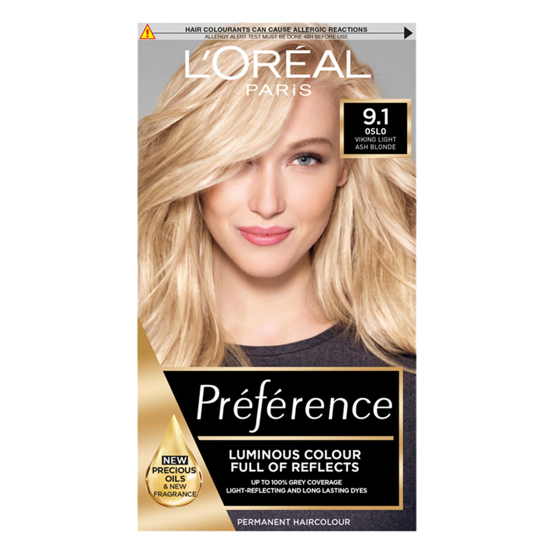 L'Oreal Paris Preference Infinia 9.1 Viking Light Ash Blonde Hair Dye