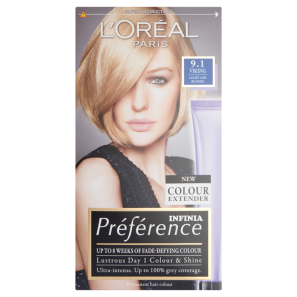 LOreal Paris Preference Infinia 9.1 Viking Light Ash Blonde Hair Dye