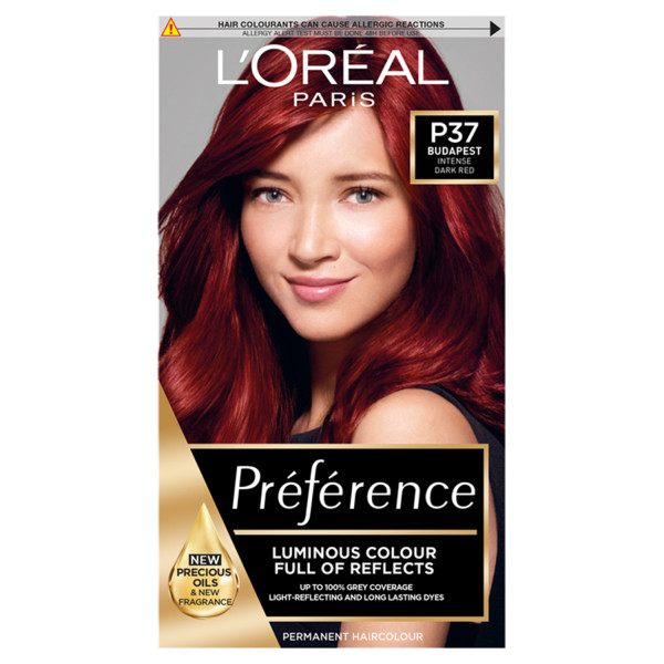 LOreal Paris Preference P37 Budapest Intense Red Permanent Hair Dye