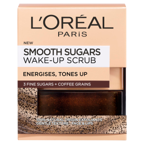 LOreal Paris Smooth Sugars Wake Up Coffee Face and Lip Scrub