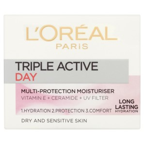 LOreal Paris Triple Active Day Moisturiser Dry & Sensitive Skin