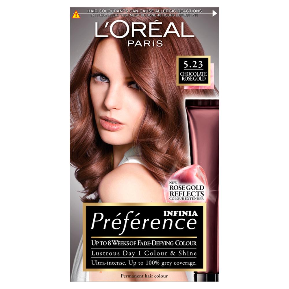 L'Oreal Paris Preference Infinia 5.23 Chocolate Rose Gold Hair Dye