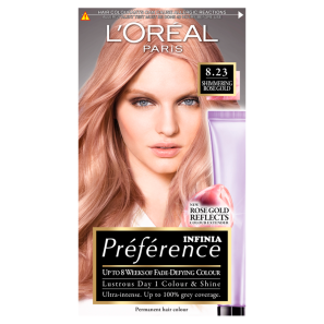 LOreal Paris Preference Infinia 8.23 Rose Gold Perm Dye