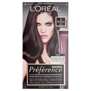 Buy Loreal Preference Infinia 3 Brasilia Dark Brown Hair Dye 1 Kit