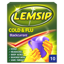 Lemsip Cold + Flu Blackcurrant Sachets
