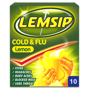 Lemsip Cold + Flu Lemon Sachets