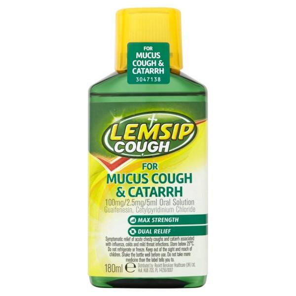 Lemsip Cough For Mucus Cough & Cattarh