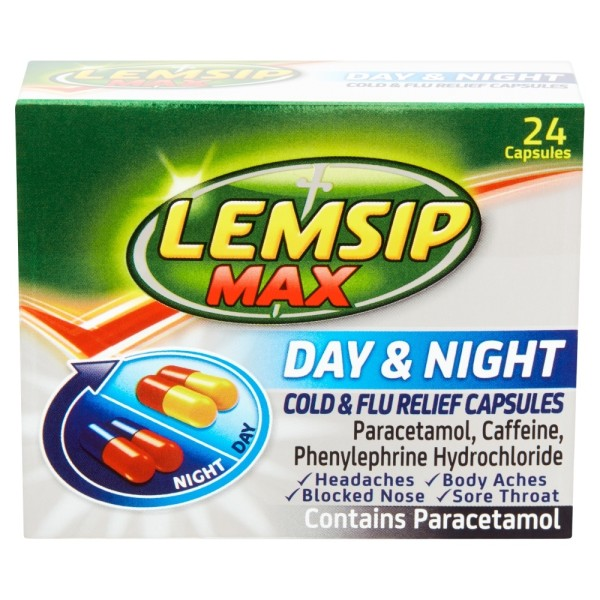 Lemsip Max Day & Night Cold & Flu Capsules