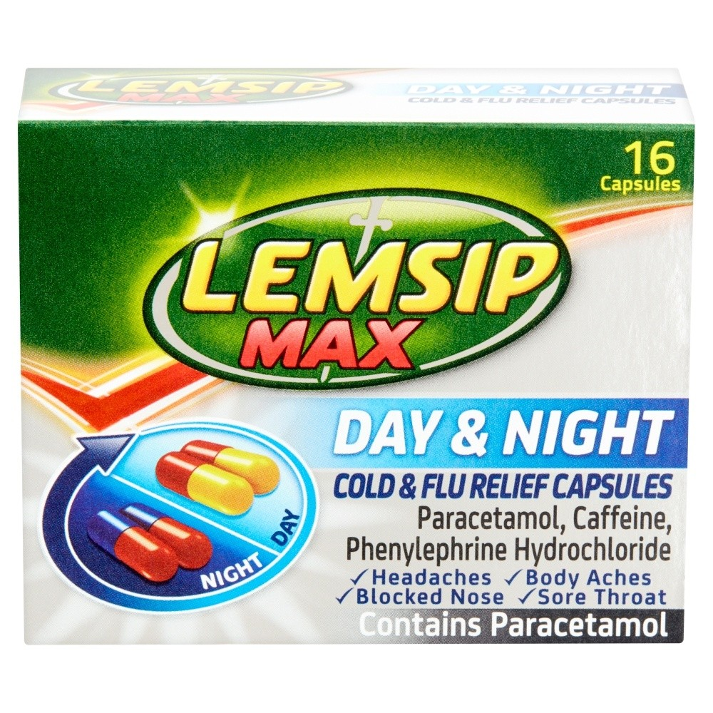 Lemsip Max Day & Night Cold & Flu Relief Capsules