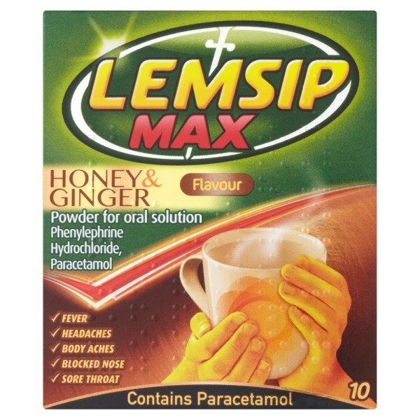Lemsip Max Honey & Ginger Sachets
