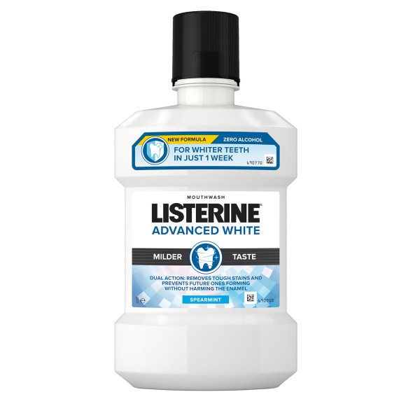 Listerine Advanced White Mouthwash Spearmint 1 Litre