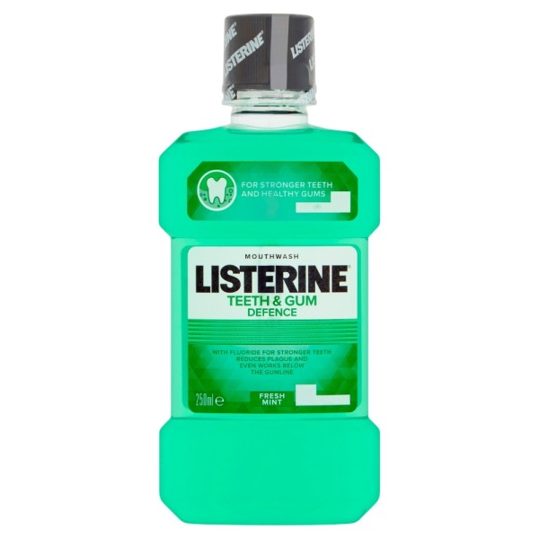 Listerine Teeth And Gum Defence Mouthwash Fresh Mint