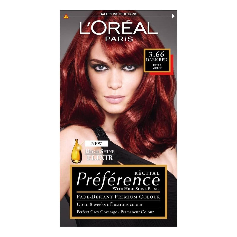 Loreal Paris Preference Infinia Dark Red Ultra Violet 3.66 Permanent Hair Dye
