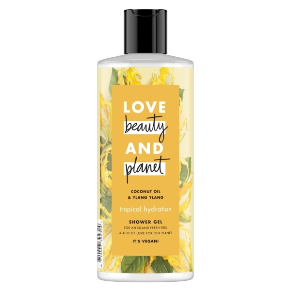 Love Beauty And Planet Vegan Shower Gel Coconut Oil & Ylang Ylang Tropical Hydra