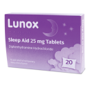 Lunox Sleep Aid 25mg Tablets