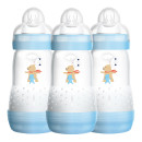 MAM Easy Start Anti-Colic Baby Bottle Three Pack- Blue
