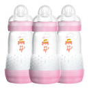 MAM Easy Start Anti-Colic Baby Bottle Three Pack- Pink