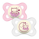 MAM Night 0+M Soother - Pink