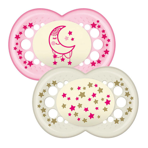 MAM Night 12+M Soother - Pink
