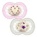 MAM Night 6+M Soother - Pink