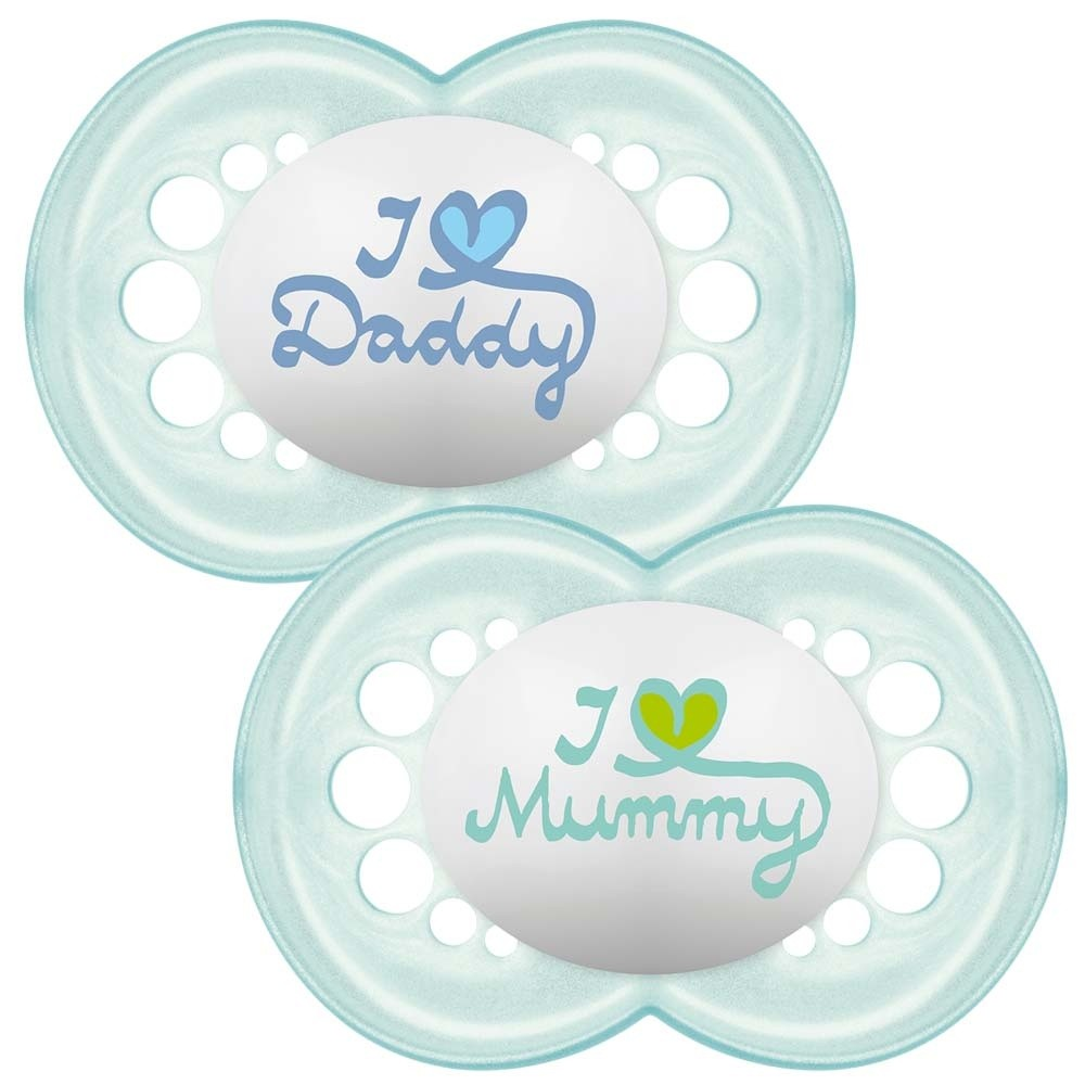 Click to view product details and reviews for Mam Style 6 Months Soother Blue.