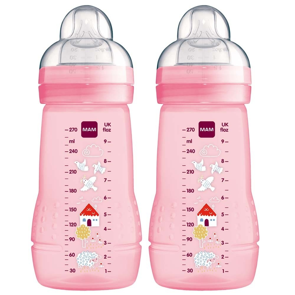Click to view product details and reviews for Mam Baby Bottle Pink.